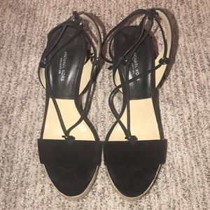 Michael Kors Collection lace up wedge Black Suede